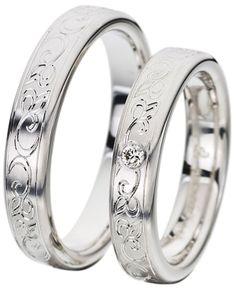 The Wedding Band Shop – Wedding Rings Dublin Ireland: White Gold Ring 1300 euro ladies 18kt 1200 euro gents 18kt