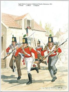 Light Infantry Company Coldstream Guards, Salamanca 1812 1_Private 2-Officer 3_Sergeant