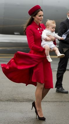 Kate Middleton - The Royal Family Arrives in New Zealand — Part 3