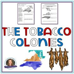 The Tobacco Colonies | Map, Comprehension Questions, and Research Activity Social Studies Lesson Plans, Social Studies Activities, Teaching Resources, Primary And Secondary Sources, History Classroom, Comprehension Questions, Reading Passages, Teacher Newsletter, Research