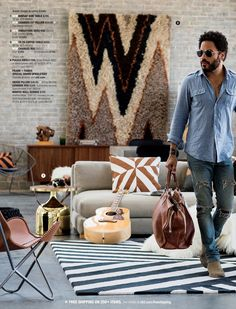 SEASON OPENER Holiday Guide 2015 | Lenny Kravitz | @crateandbarrel Retro Fashion, Mens Fashion, Lenny Kravitz, Brushed Metal, Record Producer, American Singers, Decoration, Rock And Roll, Design Inspiration