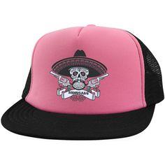 Renegade Sugar Skull Trucker Hat with Snapback 8a91e52a5e