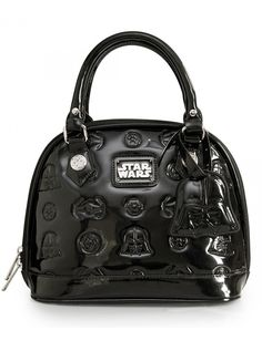"""""""Star Wars Darth Vader Darkside"""" Mini Patent Dome Bag by Loungefly (Black)"""