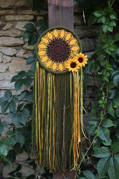 Pinterest: @MagicAndCats ☾ Dream catcher/Boho dreamcatcher/Hippie/Crochet от…