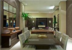 Decor Salteado - Blog de Decoração | Design | Arquitetura | Paisagismo: Salas de jantar-50 modelos maravilhosos e dicas de como decorar!