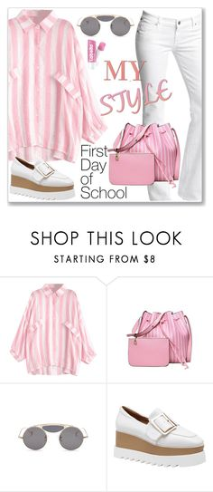 """Casual Chic Striped Blouse: First Day of School"" by jecakns ❤ liked on Polyvore featuring Citizens of Humanity"