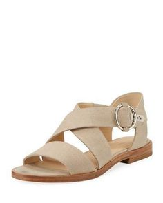 Shop Brie Flat Canvas Flat Sandals, Cream from Rag & Bone at Neiman Marcus Last Call, where you'll save as much as on designer fashions. Open Toe Flats, Ankle Strap Flats, Flat Sandals, Leather Sandals, Flat Shoes, Shoes Sandals, Clearance Shoes, Jimmy Choo Shoes, Types Of Shoes