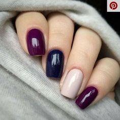 Elegante Gel Nail Art Designs für 2019 - Nails, Hair and Makeup - Nageldesign Gel Nail Art Designs, Fall Nail Designs, Nails Design, Salon Design, Autumn Nails, Winter Nails, Summer Nails, Trendy Nails, Cute Nails