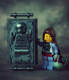 Bobette Fett by Balakov | LEGO Star Wars Han Solo Carbonite Block & Boba Fett Girl Minifig