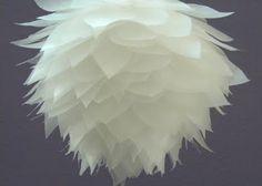 DIY lotus blossom pomander ball from wax paper