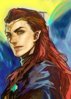 Maedhros Firstborn of Fëanor Hobbit Art, The Hobbit, Thranduil, Legolas, Das Silmarillion, Elf Drawings, History Of Middle Earth, Elf Art, Tolkien Books