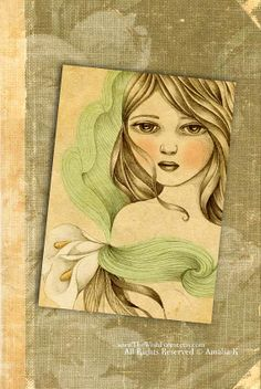 ACEO ATC Limited Edition Print 50 prints  Sow by TheWishForest, $7.00