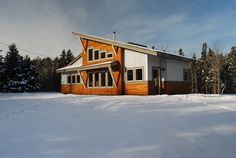 Passive Solar Residence Prince Edward Island Canada - modern - exterior - other metro - by William Johnson Architect