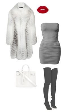 """""""Untitled #36"""" by abbeyjulian on Polyvore featuring Brandon Maxwell, Balmain and Yves Saint Laurent"""