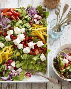 Loaded Greek Salad from www.whatsgabycooking.com (@whatsgabycookin)