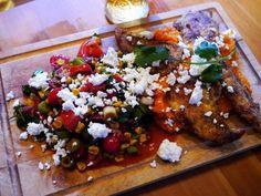 Kajenské kurča so sladkými zemiakmi a kukuričným šalátom (Jamie Oliver) - Recept