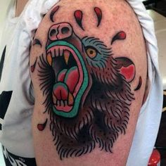 Image result for traditional bear tattoo