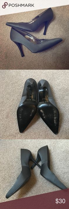 Nine west satin gray charcoal dress heels Near perfect condition. See photos Nine West Shoes Heels