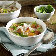 Thai-Suppe mit Puten-Hackbällchen Rezept   LECKER