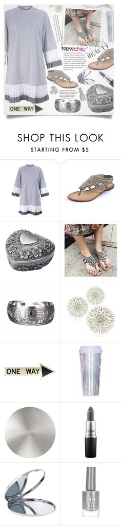 """Newchic 17."" by lillili25 ❤ liked on Polyvore featuring Post-It, Miss Selfridge, Modern Forms, MAC Cosmetics and New Look"