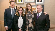 Colin Firth, Caroline Scheufele, Livia Firth & Karl-Friedrich Scheufele at Baselworld, March 2014