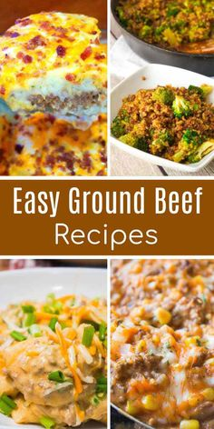 Easy ground beef recipes Easy ground beef recipes including ground beef casseroles, ground beef and rice dishes, hamburger soup and sandwich. Healthy Recipes, Spicy Recipes, Seafood Recipes, Cooking Recipes, Healthy Salads, Chicken Recipes, Hamburger Meat Recipes Ground, Easy Recipes, Applebees Recipes