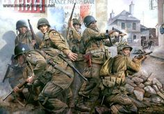 """101ST Airborne Division """"Screaming Eagles"""" in Normandy, France, June 1944"""