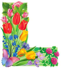 "Photo from album ""Цветочный"" on Yandex. Alphabet Letters Design, Flower Alphabet, Monogram Alphabet, Alphabet And Numbers, Birthday Logo, Birthday Cards, All Flowers, Colorful Flowers, Decoupage"