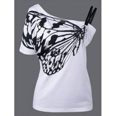 SHARE & Get it FREE | Skew Collar Butterfly Print T-ShirtFor Fashion Lovers only:80,000+ Items·FREE SHIPPING Join Dresslily: Get YOUR $50 NOW!