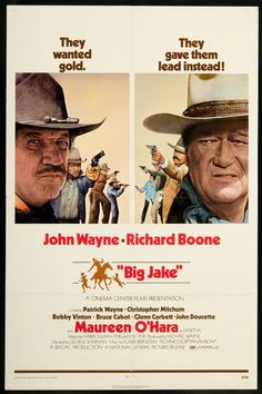 Big Jake, John Wayne, Richard Boone - Vintage Western Cowboy Movie Printable Poster