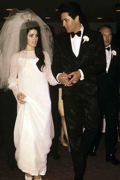 Vestidos de novia irónicos,  enlace de Elvis y Priscilla Presley.