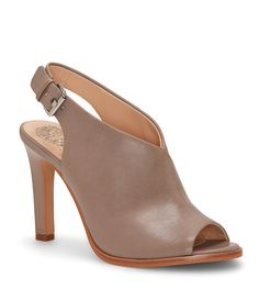 7c67b0efc57 Shop for Vince Camuto Nattey Leather Peep-Toe Slingback Shooties at  Dillards.com.