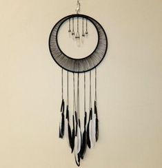 easiest dream catcher ever. Be guided by the moonlight As we sleep we have many dreams complex and simple. Each dream catcher is made with the hand of a Medium to help guide us Suncatchers, Los Dreamcatchers, Moon Dreamcatcher, Dream Catcher Craft, Dream Catcher Patterns, Black Dream Catcher, Diy And Crafts, Arts And Crafts, Summer Crafts