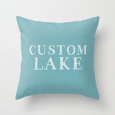 Custom Lake Pillow Cover Custom Pillow custom by RiverOakStudio