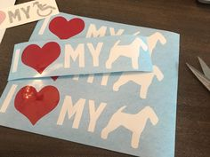 Show your pup some love with this sticker! Can create any custom dog breed sticker!