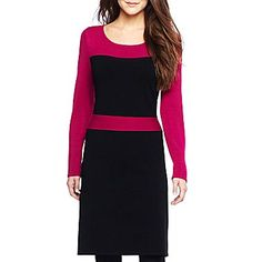 By Artisan Colorblock Sweater Dress - jcpenney