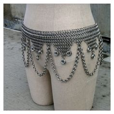 Chainmaille Hip Scarf fusion belly dance costume belt ❤ liked on Polyvore featuring costumes, renaissance costumes, holiday costumes, belly dancer costume, hook costume and renaissance halloween costume