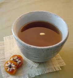 I've wanted to know for the longest time how to make this tea!  Su Jeong Gwa (Cinnamon, ginger and persimmon cold tea with pine nuts), recipe.