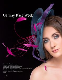 Galway Race Week  Millinery - Bríd O'Driscoll Millinery Model - Linda Murray of Roza Model Agency Photographer - Paul Cooley Photography Hair: The Face Hairdressing L'Oreal Trophy Competition 2014 Finalist Make Up - Linda Howley Location - Roslevan Photography Studio  Ennis, Ireland #keelmagazine #model #fashionmodel #photographer #stylish #elegane #unique #art #fashion #GalwayRaceWeek #ireland #Millinery #style #LindaHowley #RoslevanPhotographyStudio
