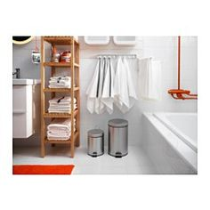 STRAPATS Pedal bin, stainless steel - stainless steel - 1 gallon - IKEA