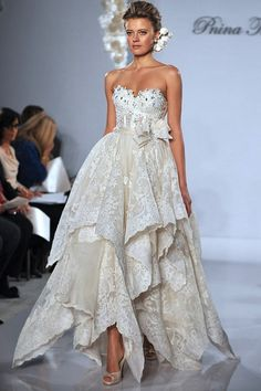 Wedding Dress 14 Pnina Tornai 2012 | A-Line, Strapless, Sweetheart | Princess Wedding Dress