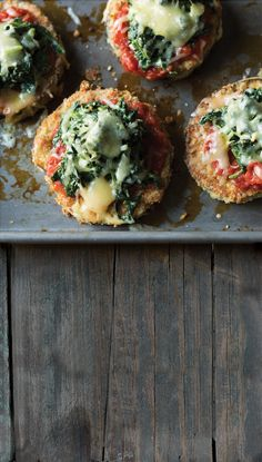 Spinach adds a modern note to this classic Italian dish. Eggplant Parmesan with Creamed Spinach, 3.0 out of 4 based on 3 ratings