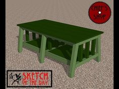 ▶ Chief's Shop Sketch of the Day: Accent Bench - YouTube