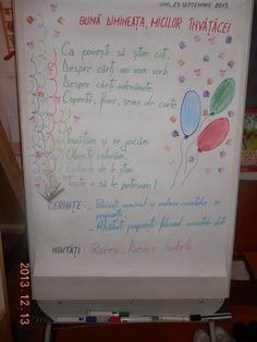 Bine ati venit pe blogul clasei pregatitoare B, STEP BY STEP: Mesajul zilei Class Decoration, Blog Page, Homeschool, Bullet Journal, Diana, School Stuff, Teaching Ideas, Salt, Books