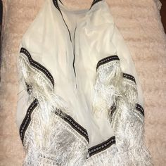 White fringe kimono This has never been worn and is in perfect condition. The fringe and the detailing is so beautiful. NEXT DAY SHIPPING Urban Outfitters Tops