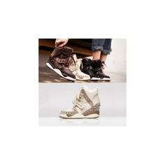 Snakeskin Print Studded High-Top Sneakers ($91) ❤ liked on Polyvore featuring shoes, sneakers, footware, hi top shoes, studded high tops, famous footwear, high top trainers and vegan sneakers