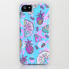 blue iPhone case #pineapple http://society6.com/product/pineapple-mix_iphone-case?curator=ornaart