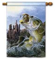 Big Catch Bass Standard Flag