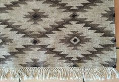 Zapotec rug, Mexican rug, wool woven rug, diamond patttern, vintage, natural colors, tapestry weave by happilybecoming on Etsy https://www.etsy.com/listing/263283258/zapotec-rug-mexican-rug-wool-woven-rug