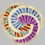 The Picasso - vintage crochet potholder pattern using crochet thread